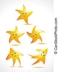 集合, 笑臉符, 星, 摘要