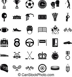 集合, 簡單, 風格, 成就, 圖象