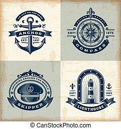 集合, 葡萄酒, 船舶, 標籤