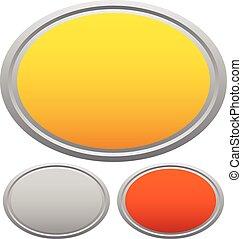 集合, 金屬, 金, 青銅,  plaquettes, 匾, 寶貴, 單子, 銀, 輪