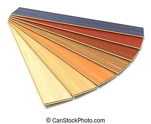集合, 顏色, 碾壓, 木制, 建設, 板條