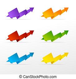 集合, 鮮艷, 箭
