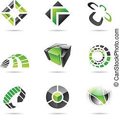 集合, 15, 摘要, 綠色, 黑色, 圖象