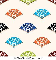 集合,  eps10, 圖案,  seamless, 手, 顏色, 各種各樣, 亞洲人, 迷