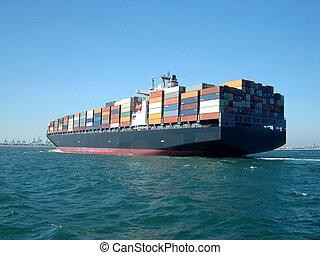 集裝箱船, 在, odessa, 港口