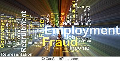 雇用, 白熱, 概念, 欺瞞, 背景