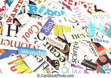 雑誌, 単語, 背景