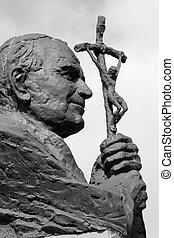 雕像, ......的, 教皇, 約翰, 保羅, ii