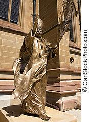雕像, ......的, 教皇, 約翰, 保羅, the, 偉大