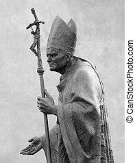 雕刻品, ......的, 教皇, 約翰, 保羅, ii