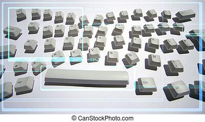 雜亂, 鍵盤