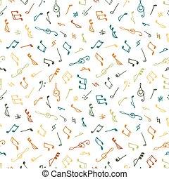 雜色, seamless, 音樂, 圖案