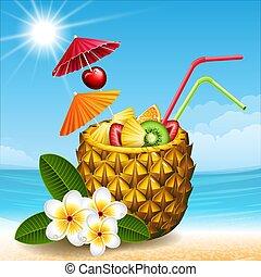 雞尾酒, 菠蘿