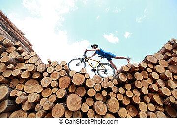 離れて, サイクリング, 道
