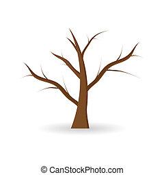 離開, 沒有, 樹