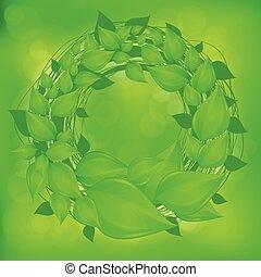 離開, 花冠, 綠色