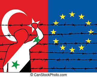 難民, 嘗試, 為了得到, 在, 到, 歐洲, 2
