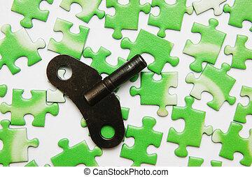 難題, 綠色, 鑰匙