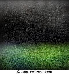 雨が降る, そして, 緑の芝生