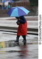 雨の日, 子供