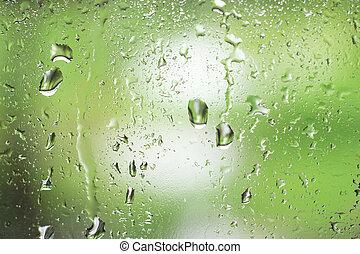 雨は 落ちる, 上に, 窓