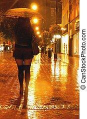 雨夜, 歩きなさい