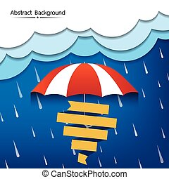 雨, 季節, 抽象的, 背景, ベクトル