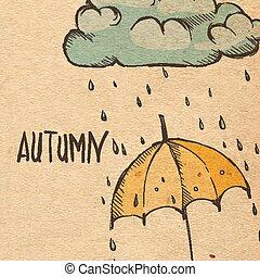 雨, 季節, 背景