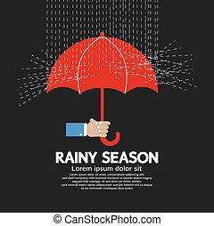 雨, 季節, graphic.