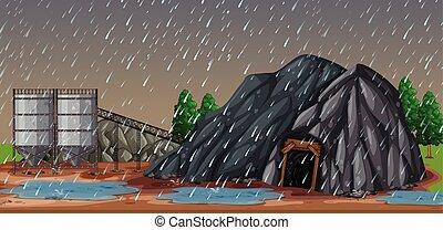 雨, 私の, 夜