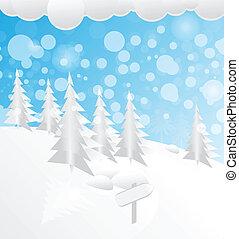 雪が多い, 森林, クリスマス