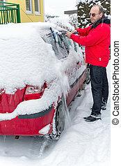 雪が降った, 自動車