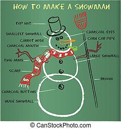 雪だるま, いかに, 作りなさい