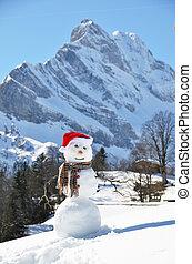 雪だるま, パノラマ, に対して, 高山