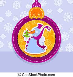 雪だるま, ボール, クリスマス