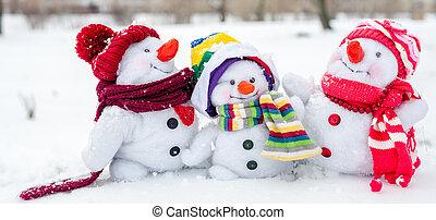 雪だるま, 幸せな家族