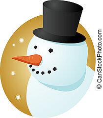 雪だるま, 微笑
