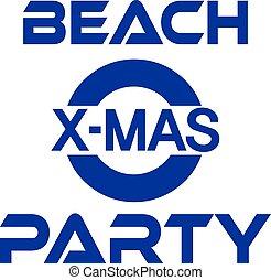 雪だるま, 浜, やし, パーティー, 海岸, 旗, クリスマス