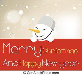 雪だるま, board., 保有物, 赤, クリスマス