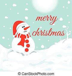 雪だるま, winter., クリスマス, シンボル。