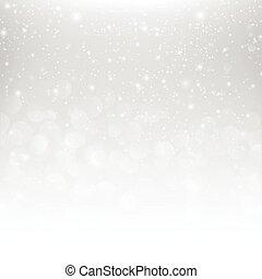 雪の落下, ∥で∥, bokeh, 抽象的, 灰色, 背景, ベクトル, イラスト, eps10, 001