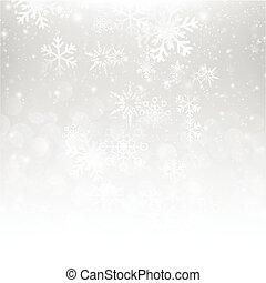 雪の落下, ∥で∥, bokeh, 抽象的, 灰色, 背景, ベクトル, イラスト, eps10, 003