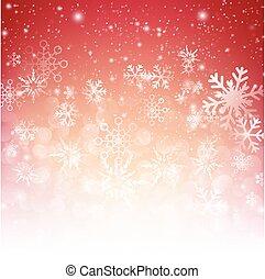 雪の落下, ∥で∥, bokeh, 抽象的, 赤い背景, ベクトル, イラスト, eps10, 002