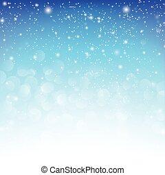 雪の落下, ∥で∥, bokeh, 抽象的, 青い背景, ベクトル, イラスト, eps10, 005
