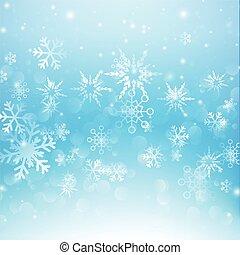 雪の落下, ∥で∥, bokeh, 抽象的, 青い背景, ベクトル, イラスト, eps10, 007