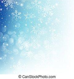 雪の落下, ∥で∥, bokeh, 抽象的, 青い背景, ベクトル, イラスト, eps10, 015