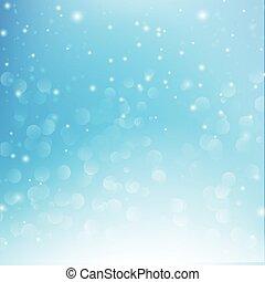 雪の落下, ∥で∥, bokeh, 抽象的, 青い背景, ベクトル, イラスト, eps10