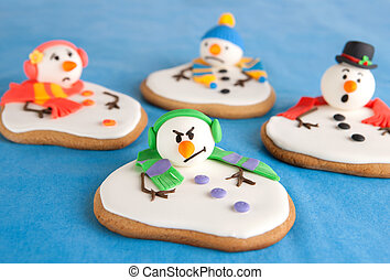 雪人, 甜饼干, 熔化