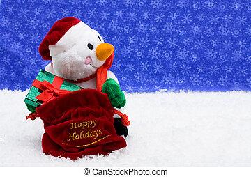 雪人, 給禮物