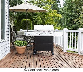 雪松, 甲板, 炊具, 大, 燒烤野餐